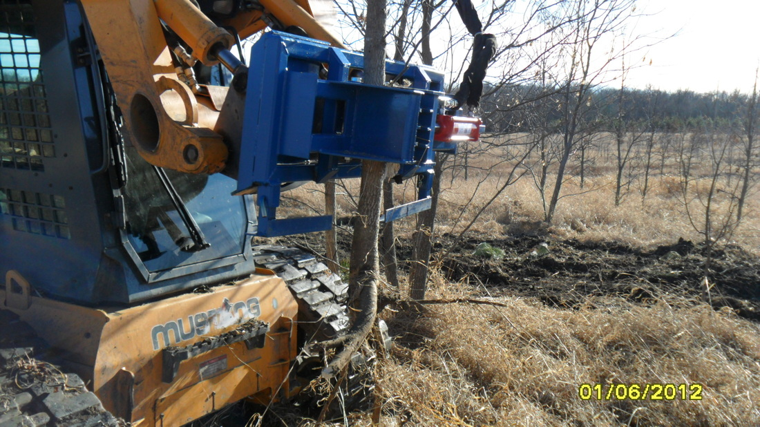 Buckthorn Puller - Custom built Skid Steer attachments to fit almost